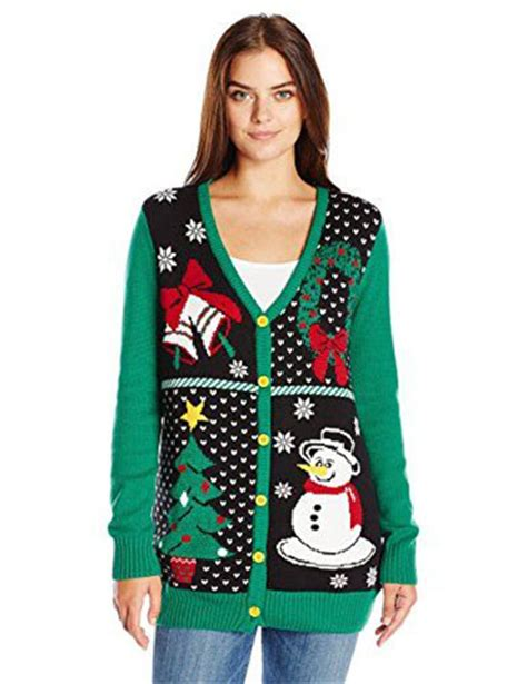 cheap ugly christmas sweaters with lights sweater vest