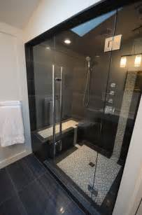 black tile bathroom ideas picture of large scale black shower tiles