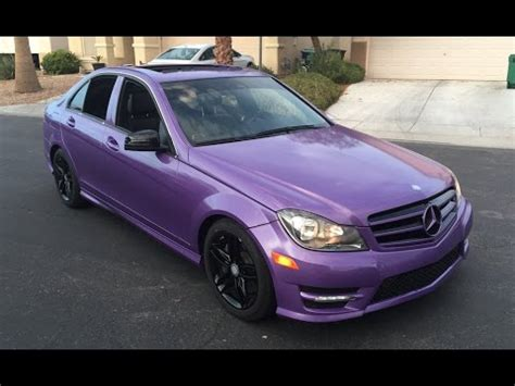 2013 mercedes c300 wrapped in avery diamond purple at