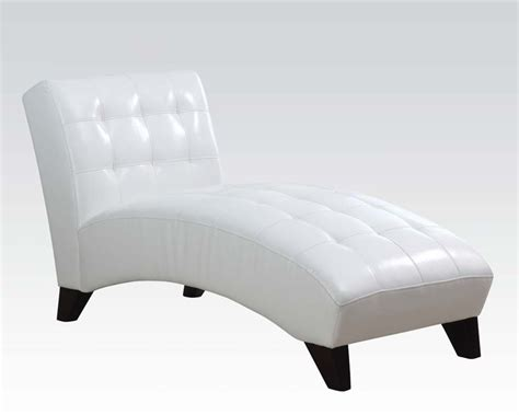 white chaise lounge chaise in white by acme furniture ac15036