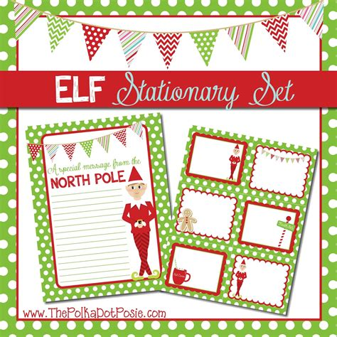 printable elf on the shelf stationary the polka dot posie free printables for your christmas elf