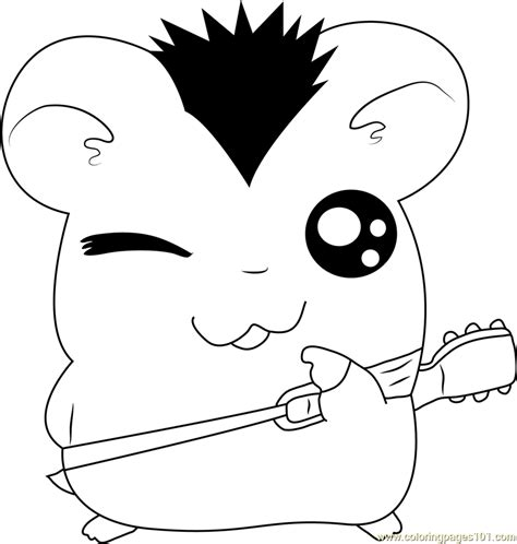 hamtaro coloring pages online hamtaro with guitar coloring page free hamtaro coloring