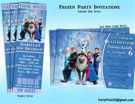 frozen disney birthday invitations free printable disney frozen invitations ticket or by