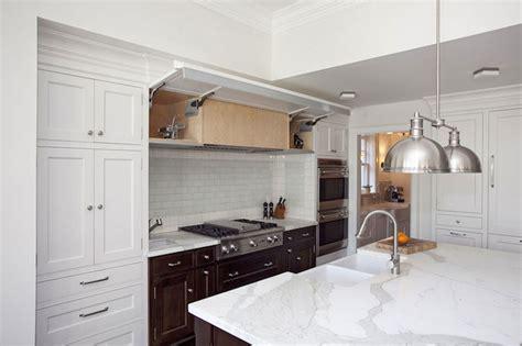 Kitchen Tile Designs Behind Stove Concealed Kitchen Hood Transitional Kitchen Thomas