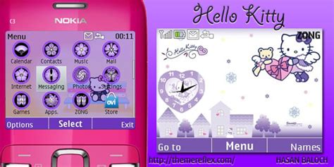 themes nokia hello kitty hello kitty theme for nokia x2 01 c3 themereflex