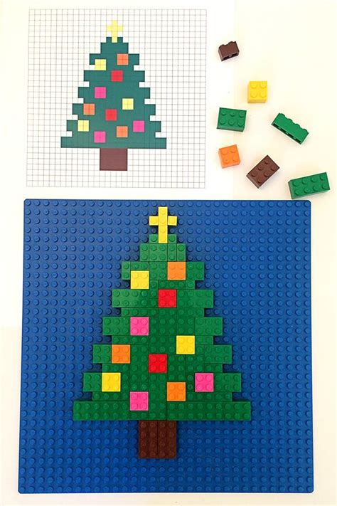 lego christmas tree pattern lego mosaics for kids 3 printable christmas building