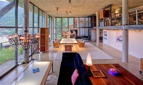 modern firefly floor l heinz julen loft switzerland ski chalet exceptional villas