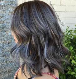 what color low lights look with white grey hair 40 ideas of gray and silver highlights on brown hair