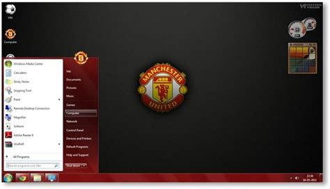 themes facebook manchester united manchester united fc windows 7 theme