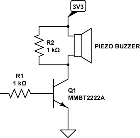 piezo resistor buzzer driver circuit electrical engineering stack exchange