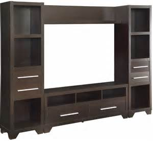 Sonax contemporary entertainment wall unit in dark espresso finish