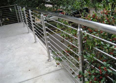 outside banister railings stainless steel handrail railing modern outdoor decor other metro by green abl
