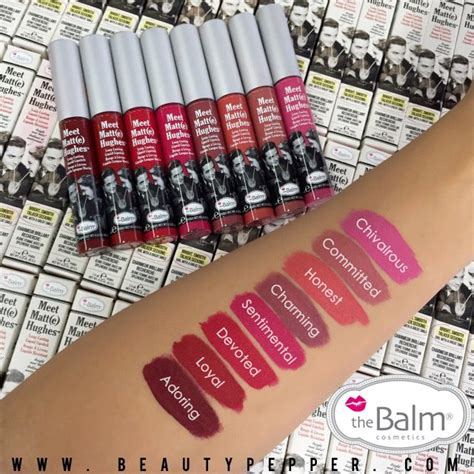 Lipstik The Balm Matte meet matte hughes liquid lipstick pretty shades that really last by the balm cosmetics makeup