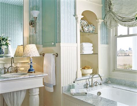 bathroom with wallpaper ideas wallpapers in a bathroom shelterness