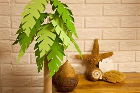 How To Make Paper Palm Leaves - d 233 cor diy paper palm tree via piggy bank i