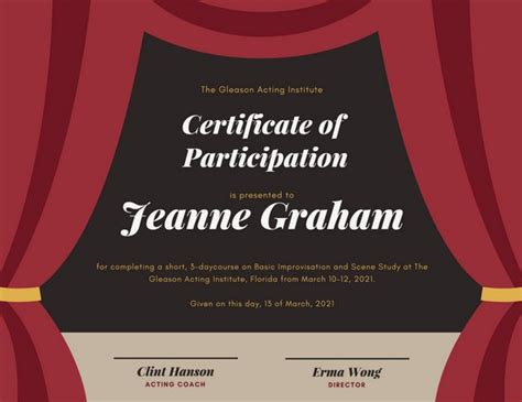 graphic design certificate maryland coral framed formal recognition certificate templates by