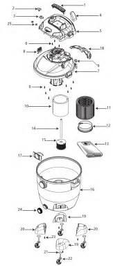 shop vac 16rtp550a vacuum parts repair schematics