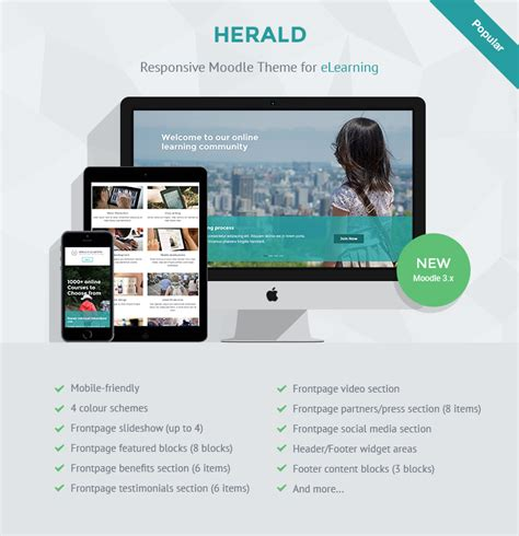 moodle theme creator software responsive moodle theme for elearning herald