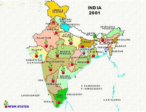 In India by Nfsm Maps States Maps