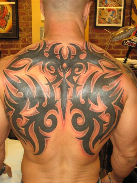 one piece tribal tattoo men s backpiece tattoo related keywords men s backpiece