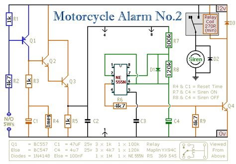 electrical circuit motorcycle alarm