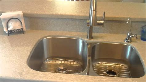 Stainless Steel Countertop With Sink by Dova E Solid Surface Countertop With A Undermount