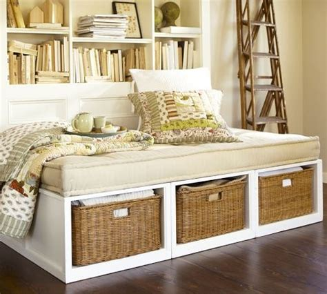 daybed with baskets stratton daybed with baskets pottery barn 299 00