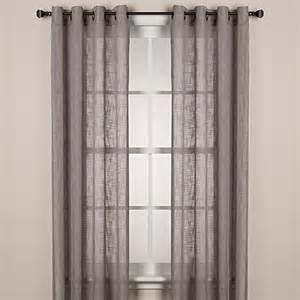 Grommet Window Curtains Alton Solid Grommet Window Curtain Panel Bed Bath Beyond