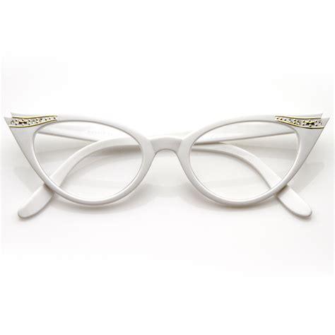 Cat Eye Lens Glasses sunglassla vintage cateyes 80s inspired clear lens cat eye