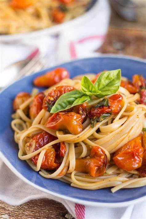 easy pasta sauce easy roasted cherry tomato pasta sauce