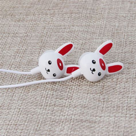 Rabbit Earphone With headset mp3 earphone mixed color 3 5mm rabbit