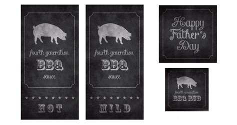 bbq sauce label template diy s day bbq lover s gift
