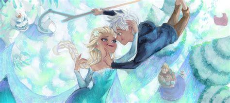 film frozen elsa and jack frozen elsa and jack fan art by angju on deviantart