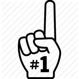 champion, fan, finger, first, hand, number, one icon