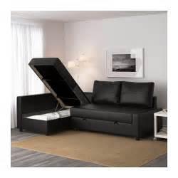 friheten corner sofa bed with storage bomstad black ikea