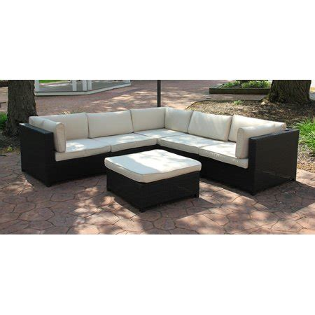 Resin Wicker Sofa by Black Resin Wicker Outdoor Furniture Sectional Sofa Set
