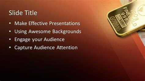 pure gold powerpoint template  powerpoint templates