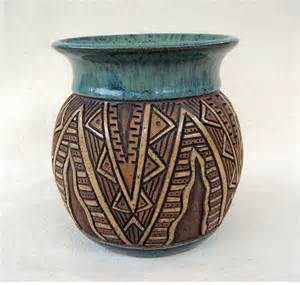 Flower Vase Design Pictures Reserved For Bp Pottery Handmade And Carved Aztec