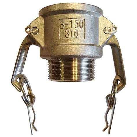 Camlock Aluminium Type A 250 2 1 2 2 1 2 quot stainless steel type b camlock coupler threaded