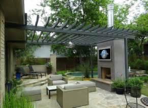 offener kamin terrasse moderne patio ideen f 252 r ihren outdoor bereich 24 beispiele