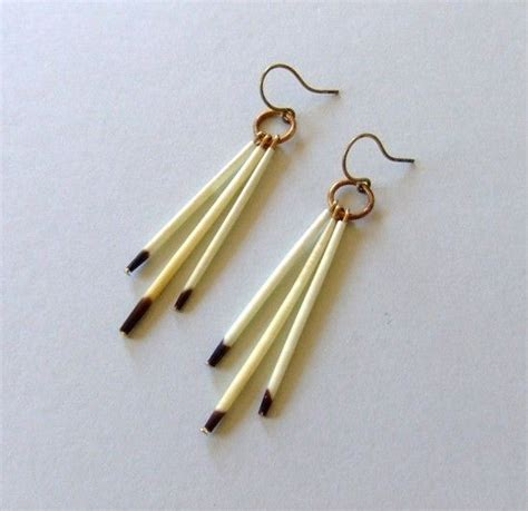 how to make porcupine quill jewelry no 295 porcupine quill earrings