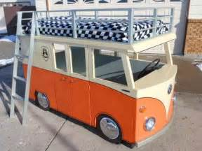 Vw Bus Bed Weekend Diy Project Vw Micro Bus Bunk Bed And Playhouse