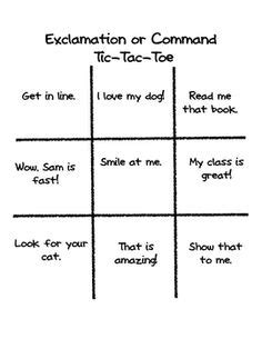 exle of command sentences worksheet 1000 images about command exclamation on lesson planet worksheets and on