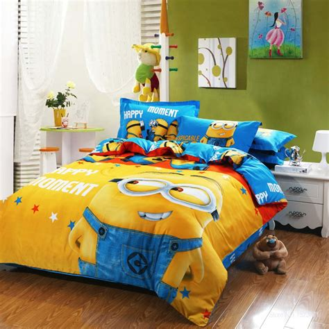 minion toddler bedding aliexpress com buy 100 cotton cartoon minion bed sets for adult children bed linen