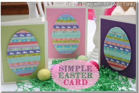 Handmade Easter Cards - handmade cards simple easter card babysitting academy