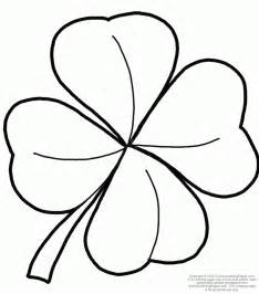 clover coloring page printable 4 leaf clover coloring home