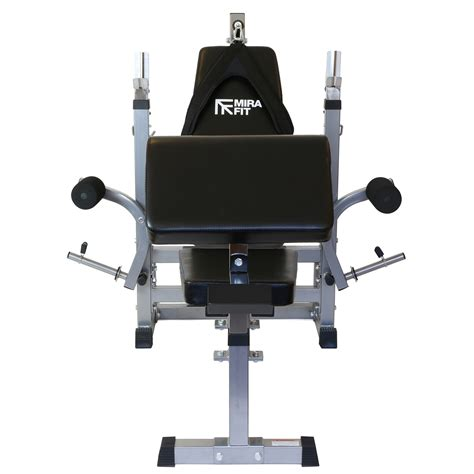 dip bench mirafit hd adjustable weight bench home multi gym with dip