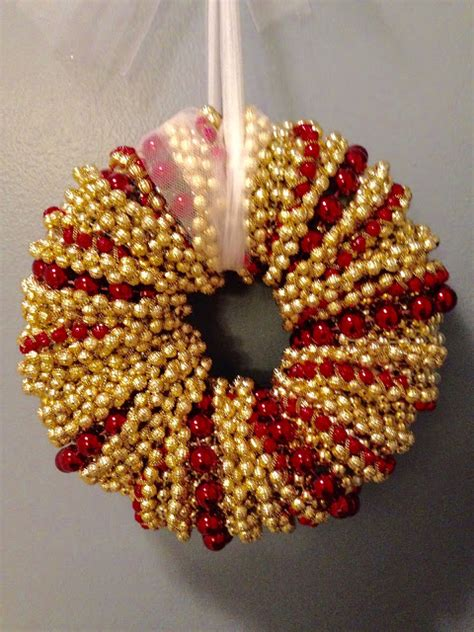 beaded christmas wreath tutorial our crafty mom