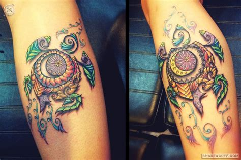 watercolor tattoos albuquerque tribal turtle leg tattoos sa design