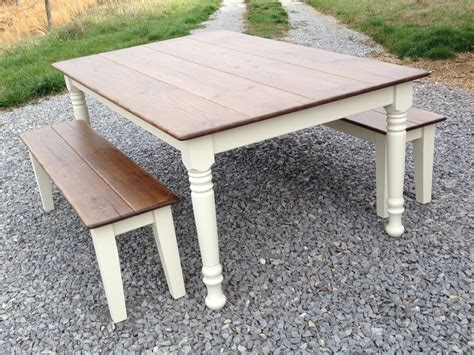 Kitchen Tables And Benches Farm Style Table With Storage Bench Home Garden